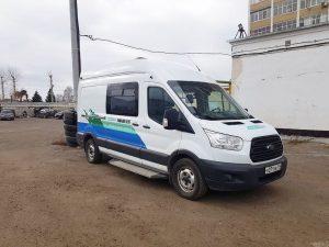 Форд Транзит — брендирование «Газпром ЭкоГаз» фургон на ГБО