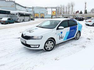 Шкода Октавия — брендирование авто «MY BLU» вейпшоп