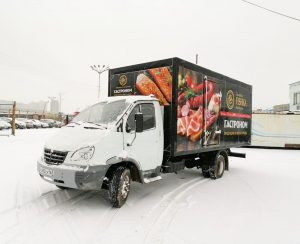 Газель Валдай — брендирование «ЗОЛОТАЯ ФИШКА» морепродукты