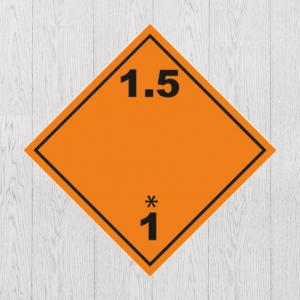 Наклейка Опасный груз Класс 1.5. Знак взрывчатые вещества и изделия