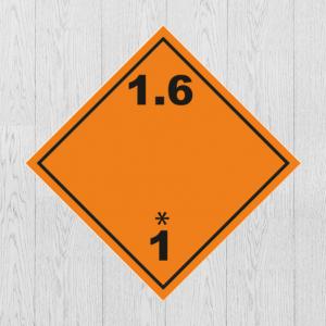 Наклейка Опасный груз Класс 1.6 Знак взрывчатые вещества и изделия