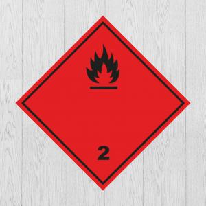 Наклейка Опасный груз Класс 2 Легковоспламеняющиеся газы
