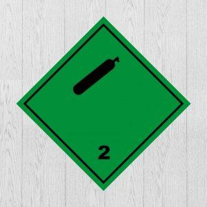 Наклейка Опасный груз Класс 2 Сжатые газы
