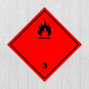 Наклейка Опасный груз Класс 3 Легковоспламеняющиеся жидкости