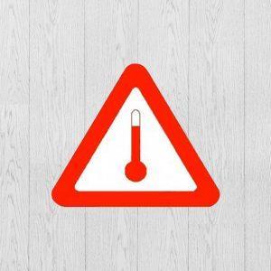 Наклейка Опасный груз Вещества перевозимые при повышенной температуре